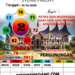 SYAIR SYDNEYNIGHT HARI INI 15 Oct 2021